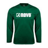 Performance Dark Green Longsleeve Shirt-NAVS