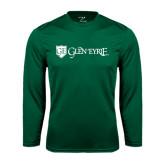 Syntrel Performance Dark Green Longsleeve Shirt-Glen Eyrie - Flat