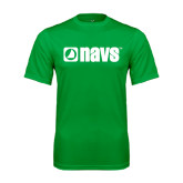 Syntrel Performance Kelly Green Tee-NAVS