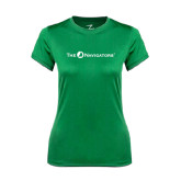 Ladies Syntrel Performance Kelly Green Tee-The Navigators