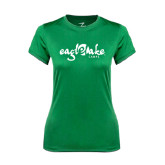 Ladies Syntrel Performance Kelly Green Tee-Eagle Lake Camps