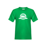 Youth Kelly Green T Shirt-Eagle Lake Badge Distressed