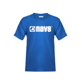 Youth Royal Blue T Shirt-NAVS