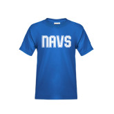 Youth Royal T Shirt-NAVS Collegiate Modern