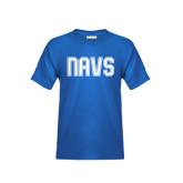 Youth Royal T Shirt-NAVS Collegiate Modern