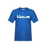 Youth Royal Blue T Shirt-NAVS New Age Font