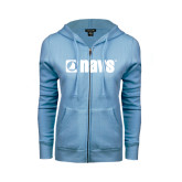 ENZA Ladies Light Blue Fleece Full Zip Hoodie-NAVS