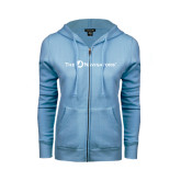 ENZA Ladies Light Blue Fleece Full Zip Hoodie-The Navigators