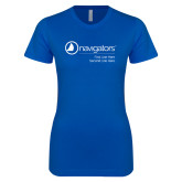 Next Level Ladies SoftStyle Junior Fitted Royal Tee-Navigators