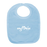 Light Blue Baby Bib-Eagle Lake Camps