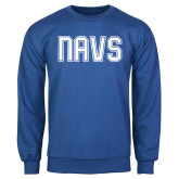 Royal Fleece Crew-NAVS Collegiate Modern