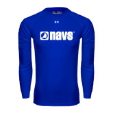 Under Armour Royal Long Sleeve Tech Tee-NAVS