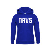 Youth Royal Fleece Hoodie-NAVS Collegiate Modern