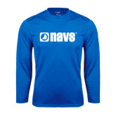 Syntrel Performance Royal Longsleeve Shirt-NAVS