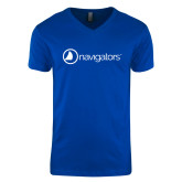 Next Level V Neck Royal T Shirt-Navigators