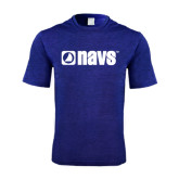 Performance Royal Heather Contender Tee-NAVS