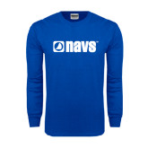 Royal Long Sleeve T Shirt-NAVS