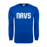 Royal Long Sleeve T Shirt-NAVS Collegiate Modern