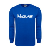 Royal Long Sleeve T Shirt-NAVS New Age Font