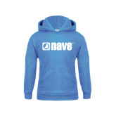 Youth Light Blue Fleece Hoodie-NAVS