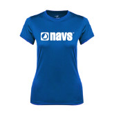 Ladies Syntrel Performance Royal Tee-NAVS