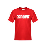 Youth Red T Shirt-NAVS