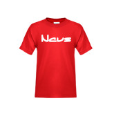 Youth Red T Shirt-NAVS New Age Font