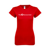 Next Level Ladies SoftStyle Junior Fitted Red Tee-The Navigators