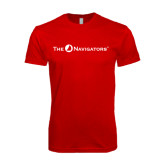 Next Level SoftStyle Red T Shirt-The Navigators