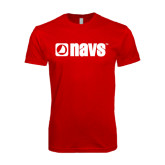 Next Level SoftStyle Red T Shirt-NAVS