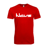 Next Level SoftStyle Red T Shirt-NAVS New Age Font