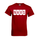 Cardinal T Shirt-NAVS Block Flag Reverse Font
