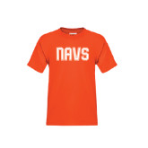 Youth Orange T Shirt-NAVS Collegiate Modern