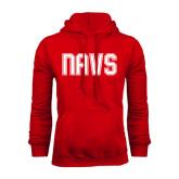 Red Fleece Hoodie-NAVS Collegiate Modern