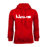 Red Fleece Hoodie-NAVS New Age Font