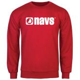 Red Fleece Crew-NAVS