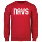Red Fleece Crew-NAVS Collegiate Modern