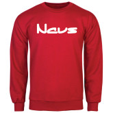 Red Fleece Crew-NAVS New Age Font