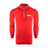 Under Armour Red Tech 1/4 Zip Performance Shirt-NAVS