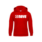 Youth Red Fleece Hoodie-NAVS