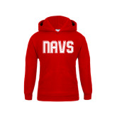 Youth Red Fleece Hoodie-NAVS Collegiate Modern