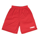 Syntrel Performance Red 9 Inch Length Shorts-NAVS