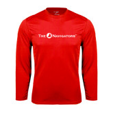 Syntrel Performance Red Longsleeve Shirt-The Navigators