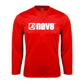Syntrel Performance Red Longsleeve Shirt-NAVS