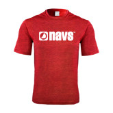Performance Red Heather Contender Tee-NAVS