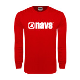 Red Long Sleeve T Shirt-NAVS