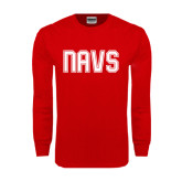 Red Long Sleeve T Shirt-NAVS Collegiate Modern