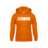 Youth Orange Fleece Hoodie-NAVS