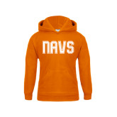 Youth Orange Fleece Hoodie-NAVS Collegiate Modern