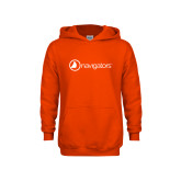 Youth Orange Fleece Hoodie-Navigators